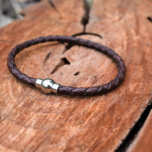 womens brown leather bracelet australia