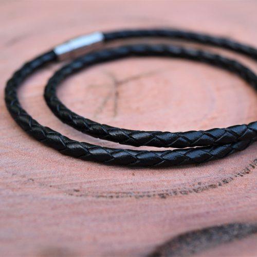 black leather necklace for kids australia