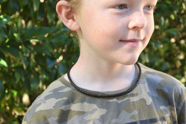 boys brown leather necklace australia