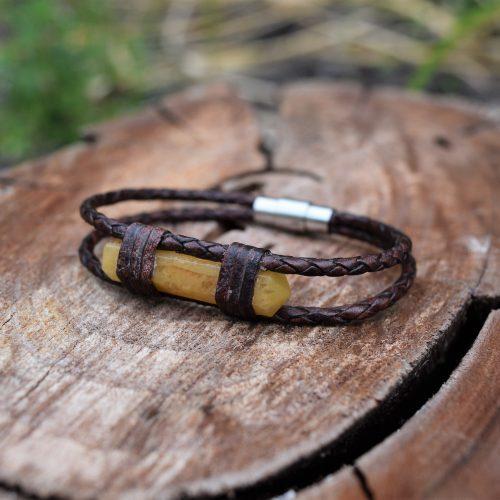 yellow aventurine leather bracelet australia