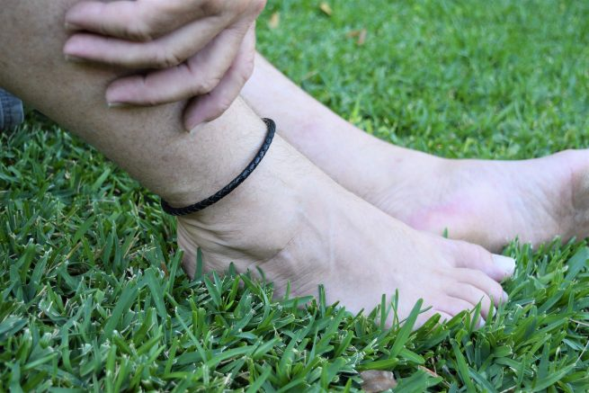 Mens Black Leather Anklets Australia