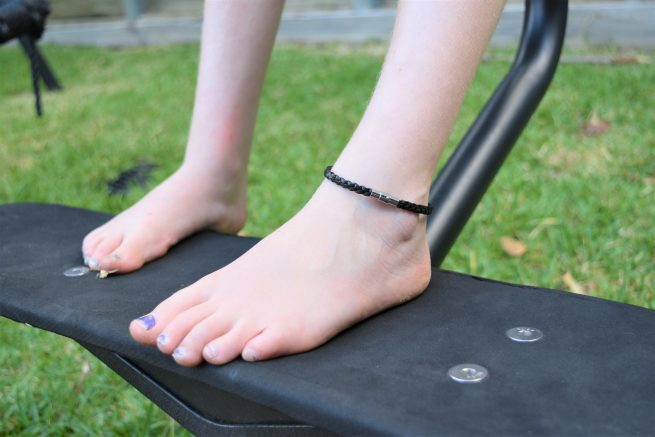 Girls Genuine Leather Black Anklet
