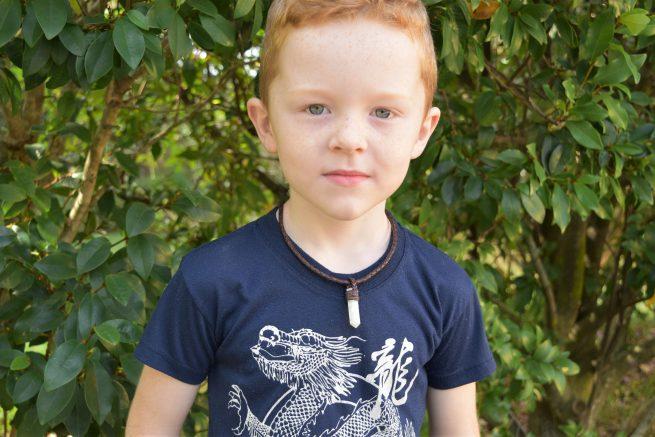 Kids Moonstone Leather Necklace Australia