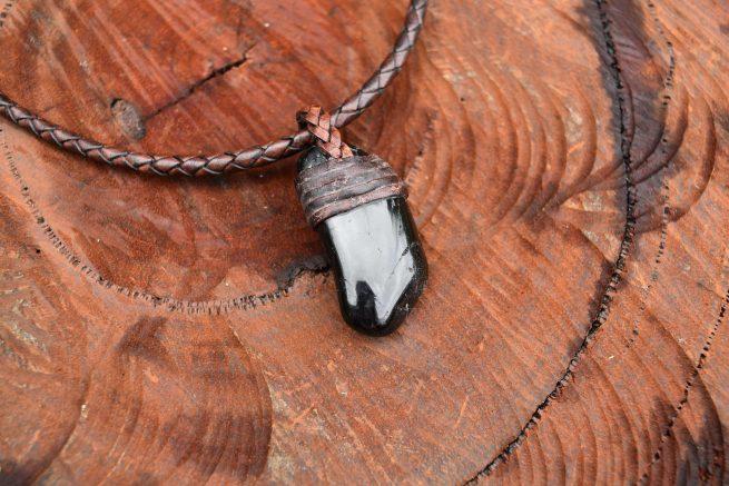 Raw Tourmaline Necklace