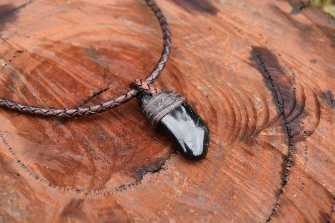 Raw Tourmaline Black Necklace