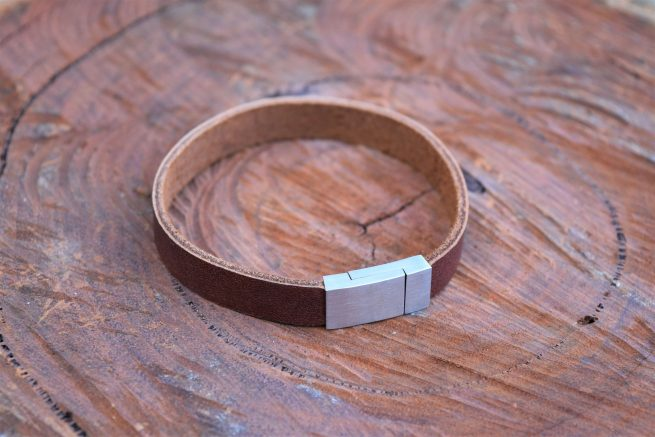 mens rustic brown leather bracelet