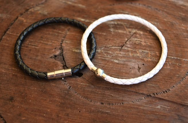 couples relationship yin and yang leather bracelets