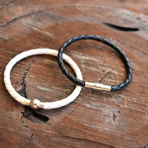 Brother Sister sibling leather bracelet set