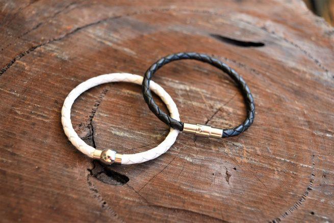 Brother Sister sibling leather bracelet set