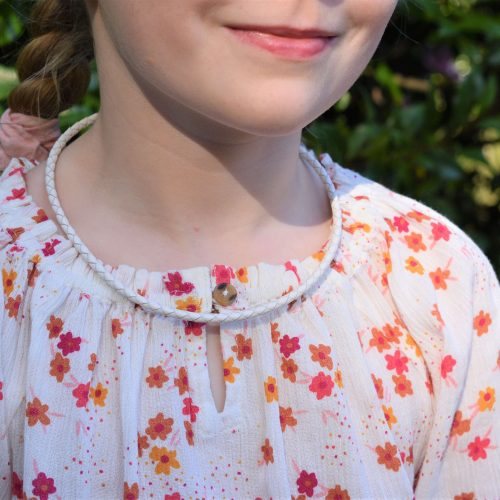 Girls White Leather Necklaces