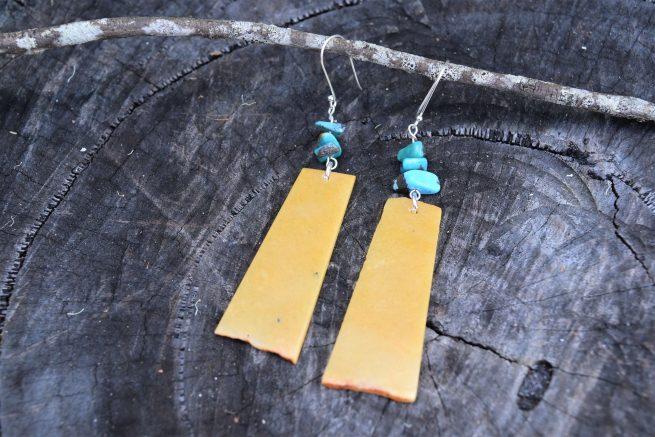 Aventurine and Turquoise Earrings