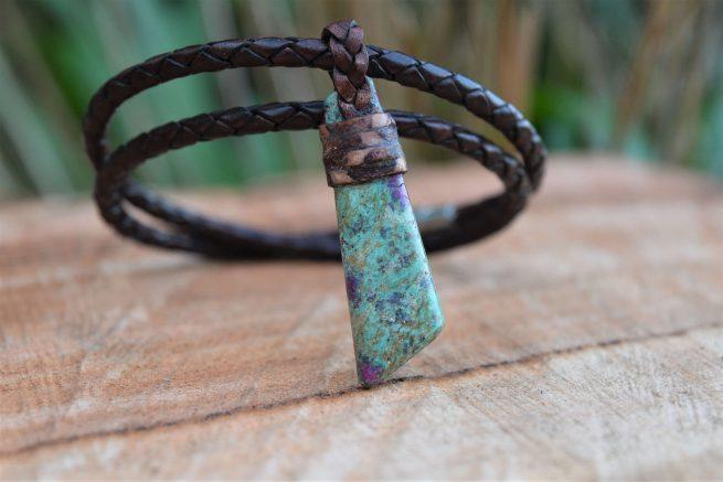 Ruby in fuchsite pendants for sale