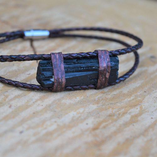 Raw Tourmaline Men's Bracelet