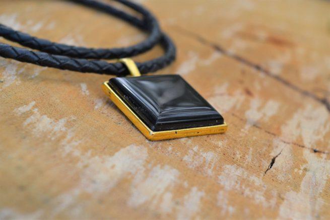 black tourmaline necklace for october