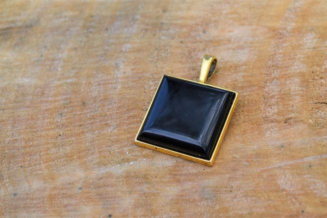 black tourmaline pendant for october born